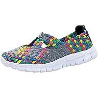 Zapatos de senderismo deporte,Sonnena,Zapatos de mujer de moda Zapatos transpirables tejidos Zapatos para correr casuales