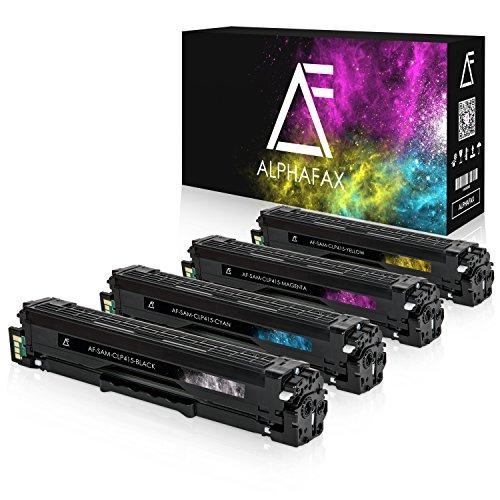 4 Toner kompatibel zu Samsung CLP-415 für Samsung CLP-415nw, CLX4195FN WF N, Xpress C1810w, C1860fw, clp410 Series, CLX-4100 Series - Schwarz 2.500 Seiten, Color je 1.800 Seiten