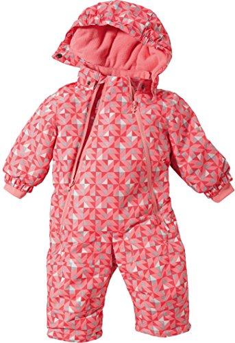 LUPILU® Baby Winteroverall imprägniert mit BIONIC® FINISH ECO (koralle/grau/weiß Dreiecke, Gr. 62/68)