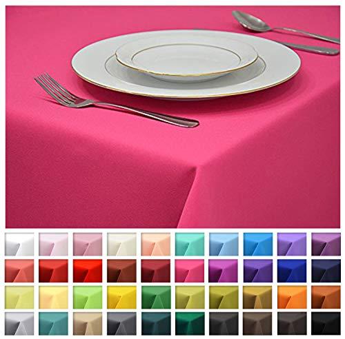 Rollmayer Tischdecke Tischtuch Tischläufer Tischwäsche Gastronomie Kollektion Vivid (Dunkel Pink 11, 100x100cm) Uni einfarbig pflegeleicht...