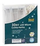 Idena LED Lichterkette, Micro 30er, für Innen, warmweiß, 31824