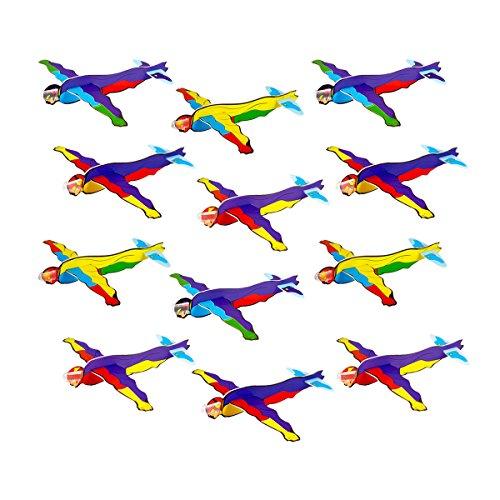 or Flieger Superhelden für Kinder, Jungen und Mädchen Geburtstag / Kindergeburtstag Gastgeschenke / Mitgebsel / Super Hero Gleiter / Styropor Flieger / Gleiter Flugzeuge Set. ()