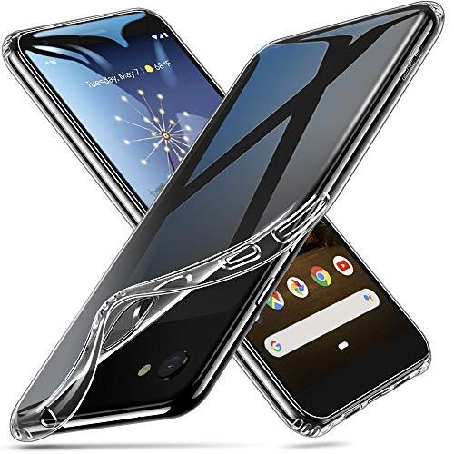 ESR Coque pour Google Pixel 3a Silicone, Google Pixel 3a Coque Transparente Gel Silicone TPU Souple, Bumper Housse Etui de Protection Premium pour Google Pixel 3a (2019) (Série Jelly, Transparent)