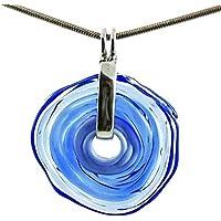 Collar en azul con colgante de cristal de murano | Joya intercambiable | Pieza único hecho a mano | Regalo para Aniversario y Boda | Regalo de cumpleaños | Regalo personalizado para navidad.