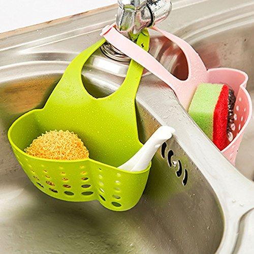 EQLEF® Esponja de almacenamiento caja del estante del tambor de lavado paño...