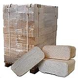 Naturbrennstoffe Kretschmann OHG ▶ Holzbriketts aus Nadelholz, 0,36€/kg*, 960kg auf Palette, kostenfreie Lieferung, handlich verpackt in 96 Pakete à 10kg, ohne Bindemittel hergestellt, Holz-Briketts