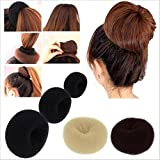INAAYA All Type Hair Bun Style Dount Hair Accessories For Professional Parlour Use Dount 3 Size Black 25 Grams...