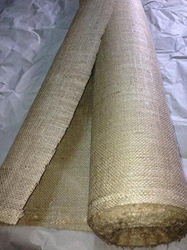 generique creadetex.com Tissu TOILE DE JUTE ecru naturelle au metre largeur 150 cm