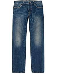 CARHARTT WIP - Jean - Homme - Jeans Selvedge Tapered Fit Klondike Kasano Bleu Délavé pour homme