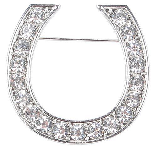 Harry\'s Horse Damen Plastronnadel Crystal Horseshoe - aantal, Schwarz, M/M