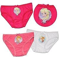 alles-meine.de GmbH 3 TLG. Slip / Unterhosen -  Disney Frozen - die Eiskönigin  - Größe 2 bis 8 Jahre - Gr. 98 bis 134 - 100 % Baumwolle - Mädchenslip / Unterwäsche - für Kinde..
