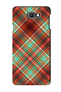 AMAN Plaid Pattern 3D Back Cover for Samsung Galaxy On7 2016