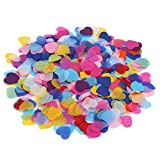 CCINEE 2000pcs 1 Inch Heart Shape Table Confetti Party Decoration Hand Craft