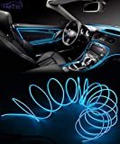 #5: FABTEC EL Wire Car Interior Light Ambient Neon Light for Cars With Adapter (Blue, 5 Meter)