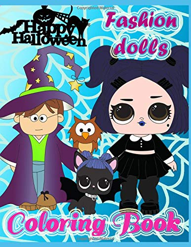 (Coloring book: Happy Halloween fashion dolls!: 40 pages for coloring)
