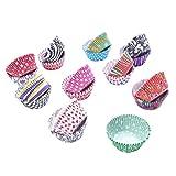 BESTONZON 400 pezzi Cupcake Wrapper Tazze da forno Tazze al tartufo Muffin Liner Tazze per cupcake, gelatina, gelato o cioccolato Stampe per dolci a conchiglia (Multicolore)