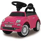Jamara 460436 – Push-Car Fiat 500 Rose – Dispositif Anti-Bascule, Poignée pour Saisir et poussée, Klaxon, Sons, Coffre sous L