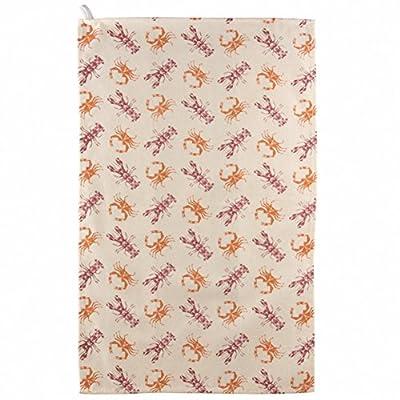 Fun Seaside Lobster and Crab Design Cotton Tea Towel