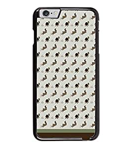 PrintDhaba Animal Pattern D-1762 Back Case Cover for APPLE IPHONE 6 PLUS (Multi-Coloured)