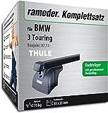 Rameder Komplettsatz, Dachträger SquareBar für BMW 3 Touring (115998-10266-1)
