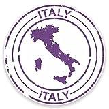 2 x 10cm/100 mm Italie Autocollant de fenêtre en verre Voiture Van Locations #9211