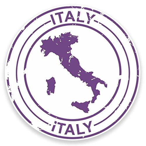 Preisvergleich Produktbild 2 x 10cm/100mm Italien Vinyl SELBSTKLEBENDE STICKER Aufkleber Laptop reisen Gepäckwagen iPad Zeichen Spaß #9211