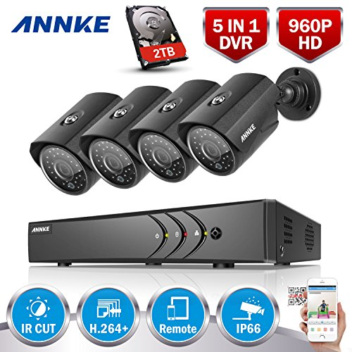 Get ANNKE HD 1080P Lite 8CH Security Cameras System and 4x 1.30 Megapixels Outdoor CCTV Camera, All-weather Adaptation, Email Alert with Images, 2TB HDD Included Online