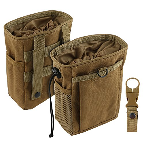 Tongshop Klettern Chalk Bag Karabiner ideal Taschen für Klettern Bouldern, Gymnastik Gym Pouch, Cross Fit und Anheben zum sicheren halten iphone und Wertsachen, khaki -