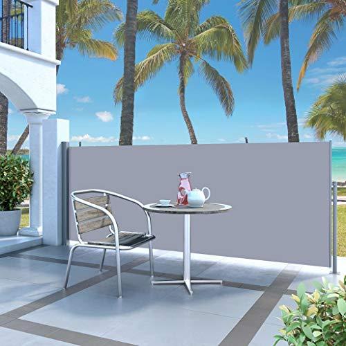 Festnight- Seitenmarkise 300 x 140 cm Grau   Sichtschutz Sonnenschutz Windschutz Wasserfest   Markise für Garten Balkon Terrasse