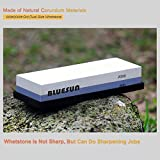 Knife Sharpening Sharpener Stone Whetstone Waterstone 600 2000 Grit, Silicon Non-slip Base and Ebook  Included for Kitchen knives, Tactical knives, Hunting knives, Scissors, Razors, Swords, and More