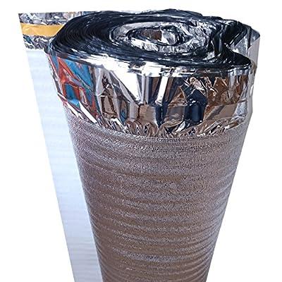 25 m² | uficell Trittschalldämmung ALU PLUS 2 mm Stark | Akustik Tritt- und Gehschalldämmung für Laminat und Parkett - Dichte: 25 kg/m³ | Sie kaufen 1 Rolle mit 25 m²