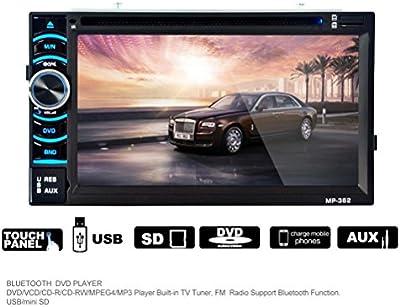 Hansee de tu coche, doble 2Din 6.95pulgadas en el tablero GPS navegación Bluetooth vehichle coche Audio Radio Receptor
