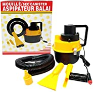 12V Portable Handheld Car Vacuum Cleaner Auto Air Pump Inflater Wet Dry Duster Kit 90W Yellow