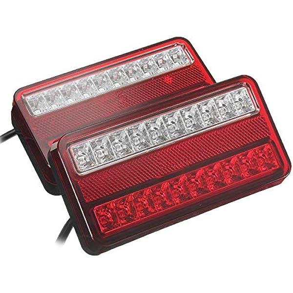 Led Anhänger Rückleuchte Rücklicht Set Rückleuchten Pkw Landmaschinen Pkw Anhänger Wohnwagen Leuchte Blinklicht E11 Auto