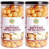 Sattviko Peri Peri Makhana 2 Jars - 70gm Each | Roasted Makhana Snack | Roasted FoxNut | Lite Snacks