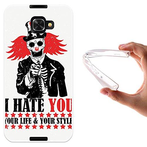 WoowCase Alcatel Idol 4S Hülle, Handyhülle Silikon für [ Alcatel Idol 4S ] Clown Handytasche Handy Cover Case Schutzhülle Flexible TPU - Transparent