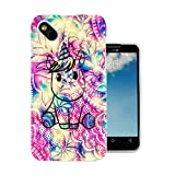 003611 - Kawaii Abstract Unicorn Design Wiko Sunny / Wiko B-Kool Fashion Trend Protecteur Coque Gel Silicone protection Case Coque