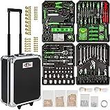 TecTake Set de herramientas (799 piezas) en maletín carrito portaherramientas de aluminio