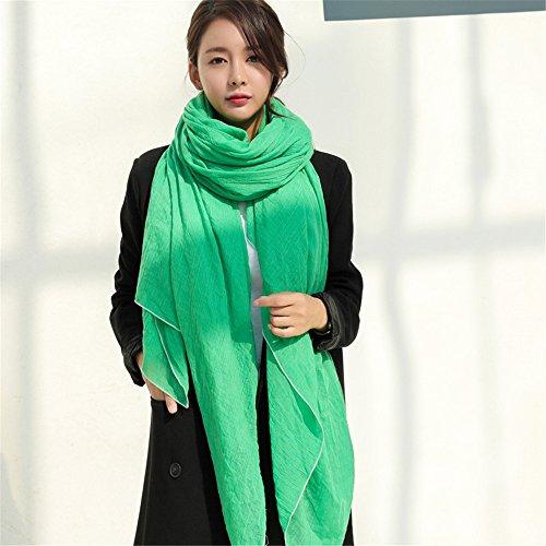 Frauen Weibliche winter Baumwolle schal Farbe Schal langer Schal und pure 200 cm * 14 cm, Gras grün Geburtstag Mutter Vater valentine vorhanden