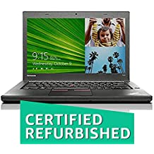 (Certified REFURBISHED) Lenovo Thinkpad T450 14-inch Laptop (5th Gen Core I5 5300U/8GB/256GB SSD/Windows 10/Integrated Graphics), Black