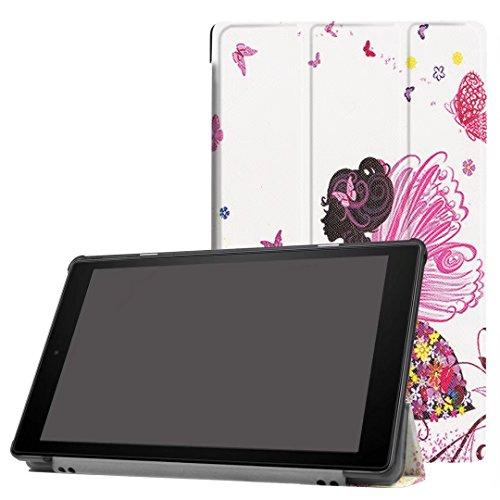 Kindle Fall, happytop 3-fach für neue Fire HD10, TPU 25,4cm bemalt Displayschutzfolie Tischdecken S mädchen (Mädchen Kindle Fire Fällen)