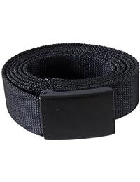 GÜRTEL 130 x 3 cm Hosengürtel Stoffgürtel Textilgürtel Bandgürtel Hose Stoff Textil Jeans Metallschloss schwarz oliv