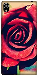 The Racoon Grip printed designer hard back mobile phone case cover for Sony Xperia Z5. (Rose)