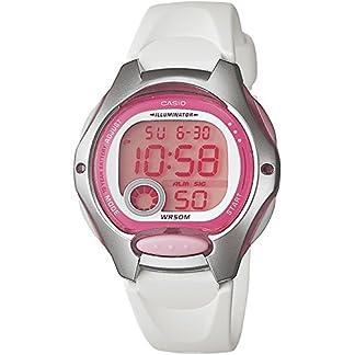 Casio LW-200-7A – Reloj de Cuarzo para Mujer, con Correa de Goma, Color Blanco