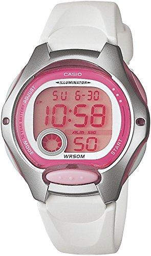 Casio - LW-200-7AVDF - Montre Femme - Quartz Digitale - Alarme/Chronomètre/Eclairage - Bracelet Caoutchouc Blanc