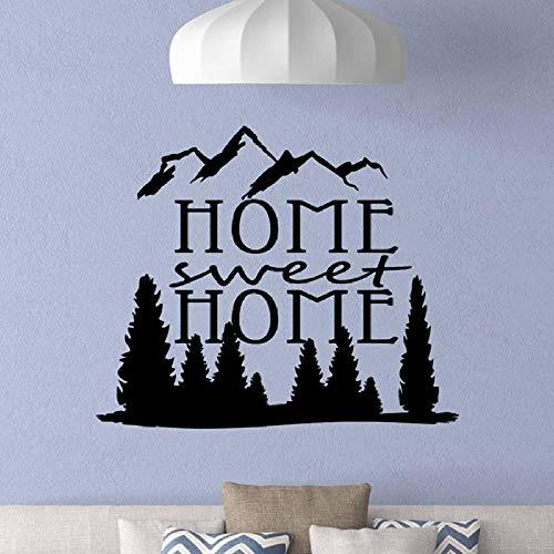 Home Sweet Home Wandaufkleber Zitat Abnehmbare Vinyl Wandaufkleber Wohnkultur Wohnzimmer wandbild Schlafzimmer Kunst Decals tapete schwarz 88x74 cm