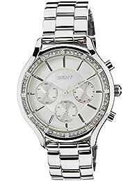 DKNY NY8251 - Reloj , correa de acero inoxidable color plateado