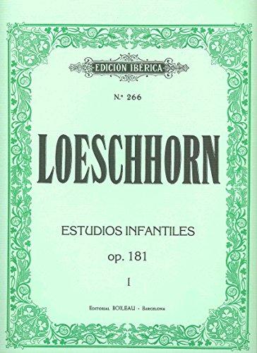 LOESCHHORN - Estudios para niños Op.181 Vol.1: nº 1 al 20 para Piano