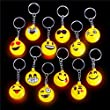 German Trendseller® - 12 x LED Emoji Mix┃ inkl. Anhänger ┃ Blinklicht ┃ Emoticons ┃ Mitgebsel ┃ Kindergeburtstag ┃ 12 Stück