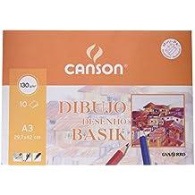 Guarro Canson 728105 - Pack de 10 hojas, A3, 130 gr